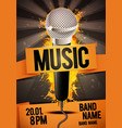 karaoke party flyer poster design with microphone vector image vector image