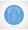 Life jacket blue icon vector image