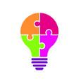 light bulb idea concept icon color vector image vector image