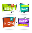 limited time sale collection of bright discount vector image vector image
