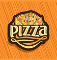 logo for italian pizza vector image