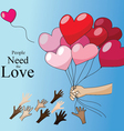 Love Is for giving Valentine concept vector image vector image