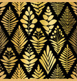 luxury golden art deco floral pattern nature vector image