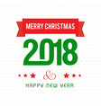 merry christmas and newyear text with white vector image