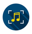 music recognition circle icon vector image