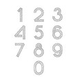 numbers font set from 0 to 9 from abstract vector image vector image