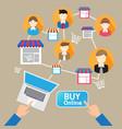 online website shopping deliver social customer vector image vector image