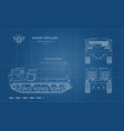 outline blueprint missile vehicle vector image vector image
