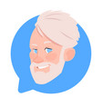 profile icon senior male head in chat bubble vector image