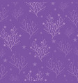 purple trees and stars texture pattern vector image vector image