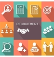 recruitment poster icons set vector image vector image