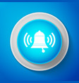 ringing bell icon isolated on blue background vector image