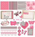 Scrapbook Design Elements - Vintage Lace Butterfli vector image vector image