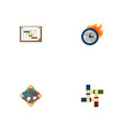 set of startup icons flat style symbols with vector image