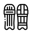 skateboard icon outline vector image vector image