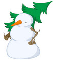 snowman spruce shouldered vector image vector image