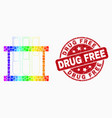spectrum dotted chemical test tubes icon vector image vector image