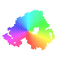 spectrum hexagon northern ireland map vector image vector image