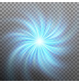 spiraling blue vortex isolated on transparent vector image vector image