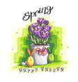 spring easter greeting with vector image vector image