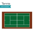tennis court top view design vector image