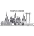 thailand bangkok line skyline vector image