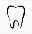 tooth outline icon dentistry clinic toothpaste vector image vector image