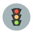 Traffic light icon flat vector image vector image