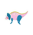 triceratops colorful dinosaur cute prehistoric vector image