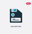 two color big floppy disk icon from technology vector image vector image