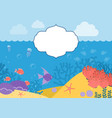 underwater background background with marine vector image vector image