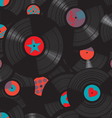 Vinyl records pattern vector image