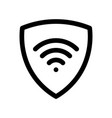 vpn - virtual private network icon simple shield vector image vector image