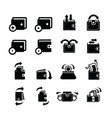 wallet set and bubble talk and arrow icons vector image vector image