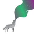 Wolf abstract isolated vector image vector image