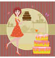 Woman cake vector image vector image