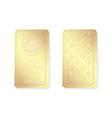 100g minted gold bar vector image