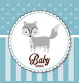 baby shower card invitation funny decorative vector image