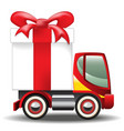 Gift Box on Car vector image