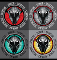 spartan warrior face profile design graphic vector image