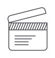 movie clapper line icon sign vector image