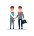 business people cooperation agreement handshake vector image