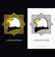 eagle head face vector image