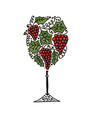wineglass sketch for your design vector image