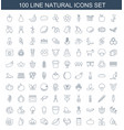 100 natural icons vector image vector image