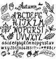 abstract hand drawn alphabet modern font abc vector image vector image