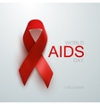 Aids Awareness Red Ribbon vector image