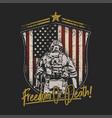 american soldier shield emblem vector image vector image