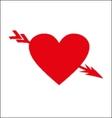 arrows heart vector image
