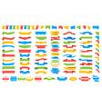 big set colored ribbons vector image